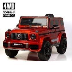 Электромобиль Mercedes-Benz AMG G63 K999KK 4WD (колеса резина, кресло кожа, пульт, музыка)
