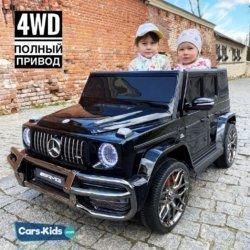 Mercedes-Benz AMG G63 4WD S307 черный (2х местный, полный привод, резина,  кожа, пульт, музыка)